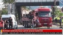 Bombalı saldırıda hasar gören araçlar kaldırıldı