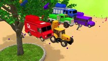 Build a Bridge | Learn Colors with Street Vehicles with Lego on Slide Pretend Play for Kids