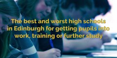 Secondary school - The best and worst high schools in Edinburgh for getting pupils into work, training or further study