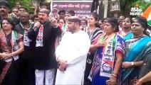 राकांपा कार्यकर्ताओं का राज्यभर प्रदर्शन