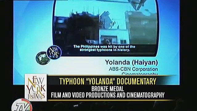 ABS-CBN, kinilala sa New York Festivals