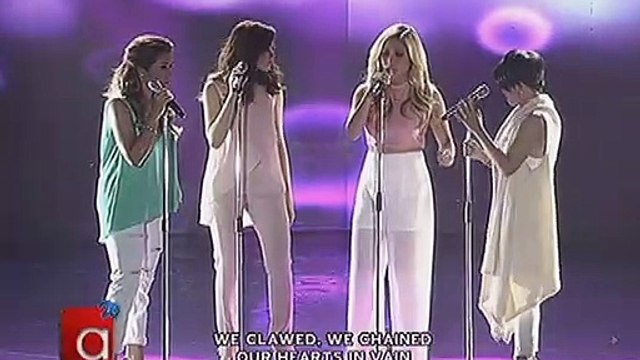 Pitch-perfect performance from Sarah, Yeng, KZ and Angeline
