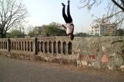Sachin choudhary back flip from the wall // Back Flip // Practice time