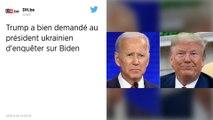 Donald Trump a bien demandé au président ukrainien d'enquêter sur son rival Joe Biden