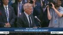 Harrison Ford Speaks at UN Summit