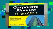 [READ] Corporate Finance For Dummies