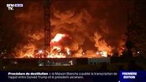 Les images très impressionnantes d'un important incendie à l'usine Lubrizol de Rouen
