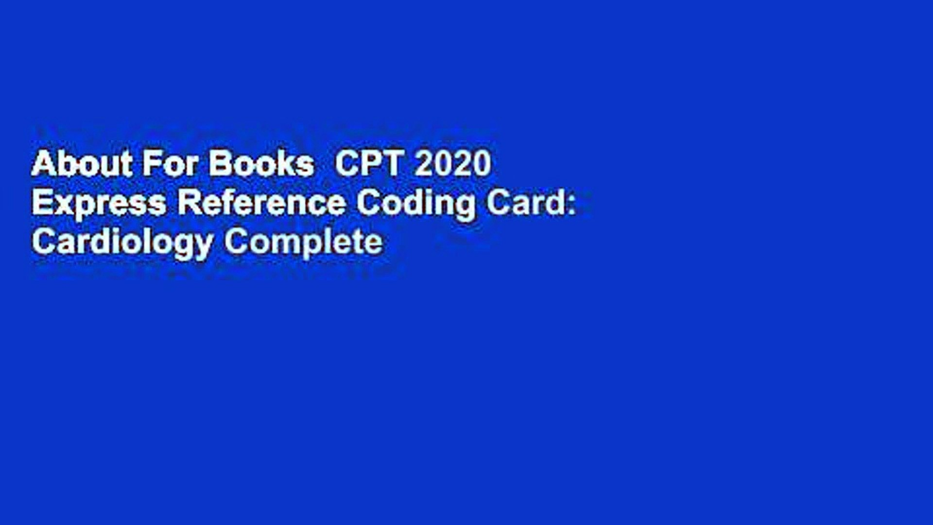 Cpt Modifiers List 2020.About For Books Cpt 2020 Express Reference Coding Card Cardiology Complete