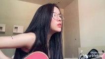 HÃY KHÓC TRÊN VAI ANH (Uni5)- Acoustic cover by LyLy