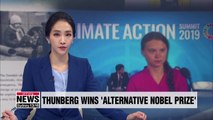 Greta Thunberg named winner of 'alternative Prize'
