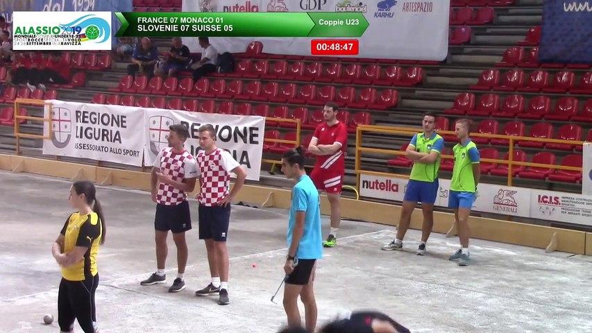 Troisième partie de poules, Double U23, Mondial Jeunes U18 et U23, Alassio 2019