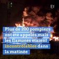 Une usine chimique classée Seveso en feu à Rouen