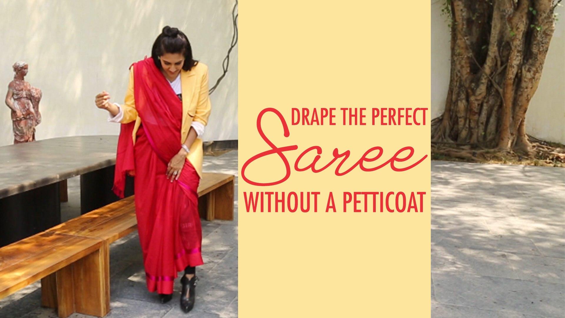 How To Wear Saree WITHOUT PETTICOAT | Raw Mango Sarees | Sanjay Garg