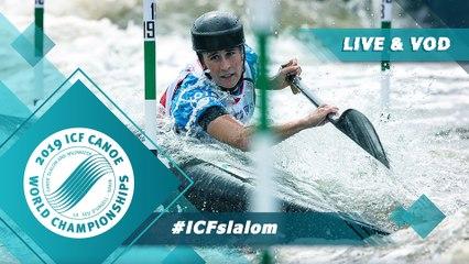2019 ICF Canoe Slalom World Championships La Seu d'Urgell Spain / Slalom Heats Run 2 – C1m, K1w Pt1