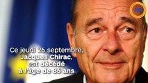 Jacques Chirac est décédé à l'âge de 86 ans.