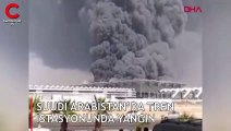 Suudi Arabistan'da tren istasyonunda yangın