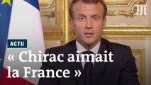 « C'était un grand français, libre », dit Emmanuel Macron à propos de Jacques Chirac