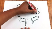 Cómo Dibujar y Pintar a Carlos de Power Rockers - Mini Beat Power Rockers - Videos Infantiles