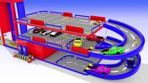 Hot Wheels Toy Cars Multilevel Parking for Kids to Learn Colors for Children, Parking Videos