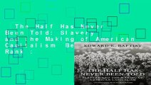 The Half Has Never Been Told: Slavery and the Making of American Capitalism  Best Sellers Rank :