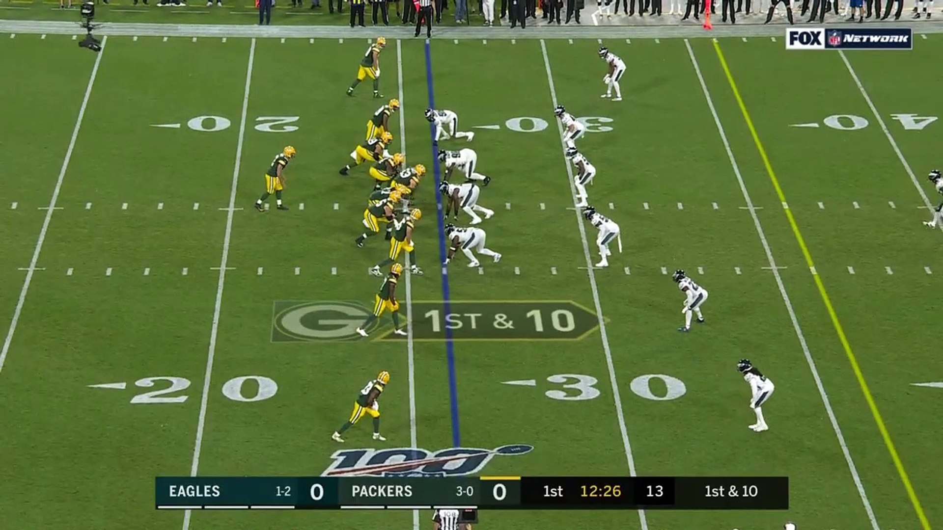 HUGE Davante Adams Catch Sets Up Aaron Jones TD