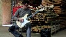 Une guitare électrique en bois des Vosges, comment ça sonne ?