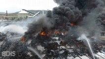 Incendie Rouen : le brasier de l'usine Lubrizol filmé par un drone