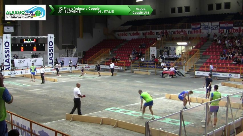 Demi-finales, tir rapide en double U18, Mondial Jeunes U18 et U23, Alassio 2019