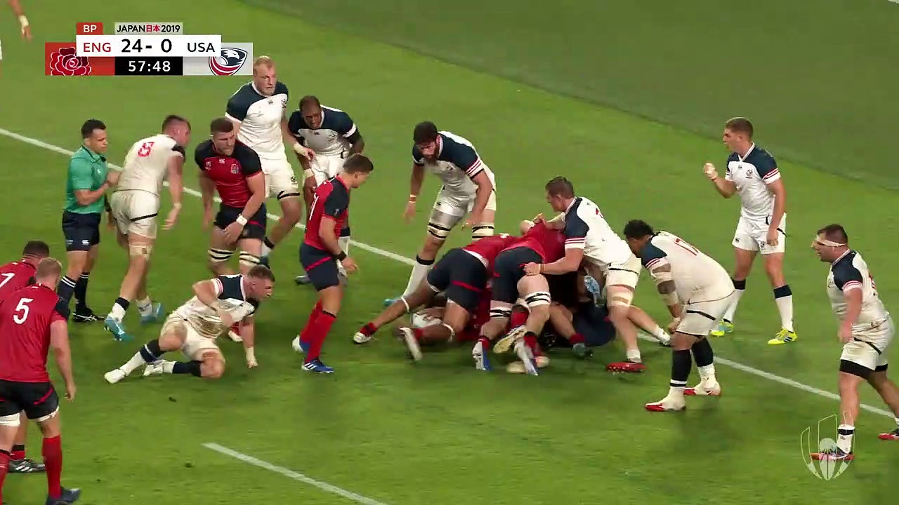 Extended Highlights  England v USA – Rugby World Cup 2019