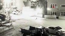 Aç kaldığı için şehir merkezine inen boz ayı kameraya yakalandı