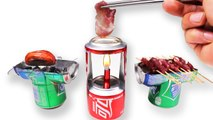 DIY Amazing Mini BBQ from Coca Cola Sprite Can at Home