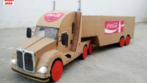 WOW! Amazing Coca Cola Truck Container DIY at home How to Make Truck Container 9v Battery