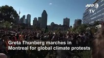 Greta Thunberg marches in Montreal for global climate protests