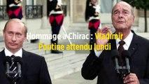 Hommage à Chirac : Vladimir Poutine attendu lundi