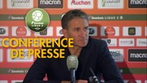 Conférence de presse RC Lens - Paris FC (2-1) : Philippe  MONTANIER (RCL) - Mecha BAZDAREVIC (PFC) - 2019/2020