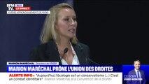"""Marion Maréchal à la convention de la droite: """"Nous sommes le camp de l'expérience"""""""