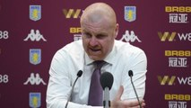 Burnley boss Sean Dyche happy with a point at Aston Villa