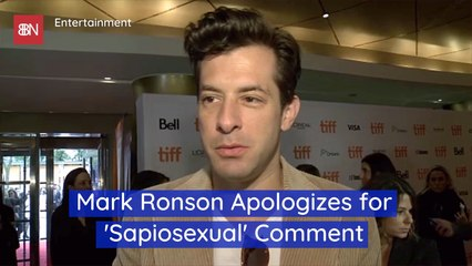 Mark Ronson Is Sorry About A Comment