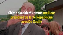 Chirac considéré comme meilleur président de la Ve République avec De Gaulle