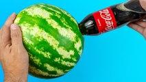 12 AWESOME WATERMELON TRICKS AND IDEAS Coca Cola - 12 INCREÍBLES IDEAS Y TRUCOS CON SANDÍAS.