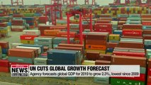 UN forecasts lowest global GDP growth since financial crisis
