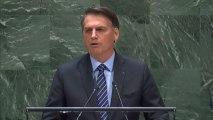 """Bolsonaro reitera en la ONU la """"exageración"""" y """"manipulación"""" en torno a los incendios en la Amazonía"""