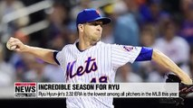 Ryu Hyun-jin, with the lowest ERA this season, goes for Cy Young Award against Jacob deGrom