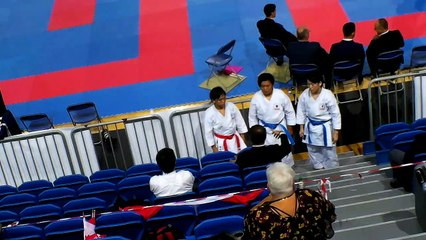 Team kata Japan debriefing with Kagawa Shihan