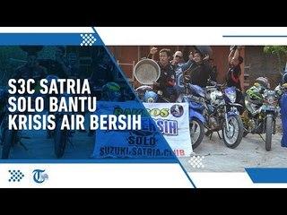 Komunitas Solo Suzuki Satria Club Beri Bantuan Air Bersih pada Warga Terdampak Kekeringan di Sragen