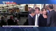 Nicolas Sarkozy et Carla Bruni arrivent à leur tour à Saint-Sulpice
