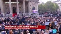 Obsèques de Jacques Chirac : l'ancien président Valéry Giscard d'Estaing présent à la messe