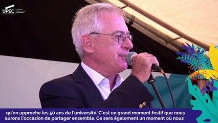 Bienvenue à l'UPEC : Discours du Président de l'université, Jean-Luc Dubois-Randé