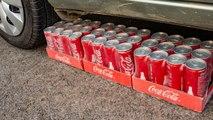 EXPERIMENT COCA COLA Vs CAR-Crushing Crunchy Soft & Squishy Things By Car