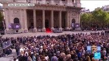 Obsèques de Jacques Chirac : Claude Chirac et son fils Martin saluent les Français devant Saint-Sulpice